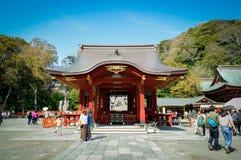 Première étape de danse au tombeau de Tsurugaoka Hachimangu, Kanagawa, Japon Images stock