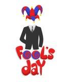 Première April Fools Day Concept colorée Illustration Libre de Droits