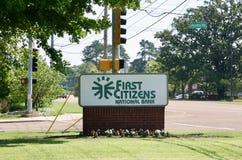 Première banque de citoyens Image libre de droits