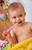 Première brosse à dents Photo libre de droits
