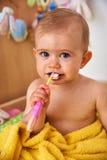 Première brosse à dents Photo stock