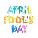 Première carte de voeux d'April Fool Day Happy Holiday Photo stock