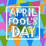Première carte de voeux d'April Fool Day Happy Holiday Image stock