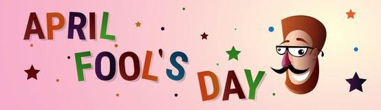 Première carte de voeux de sourire d'April Fool Day Happy Holiday de bouche Image stock