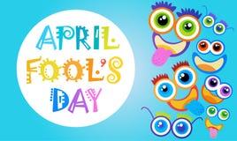 Première carte de voeux de sourire d'April Fool Day Happy Holiday de visage Photographie stock