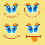 Première carte de voeux de sourire d'April Fool Day Happy Holiday de visage Image libre de droits