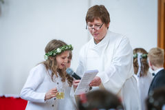 Première communion Image stock