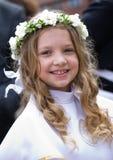 Première communion - gigl de sourire Photo stock