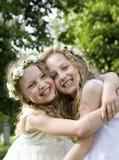 Première communion - jour heureux Images stock