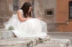 Première communion sainte Photographie stock