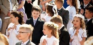 Première communion sainte Images stock