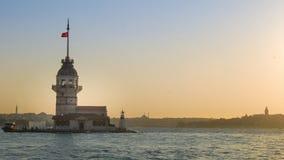 Première définition ultra élevée du laps de temps de tour d'Istanbul 4K banque de vidéos