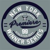 Première de New York de conception Image libre de droits