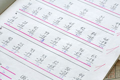 Première exécution arithmétique Images stock