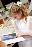 Première fille de communion Images stock
