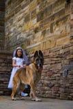 Première fille de communion sainte Image stock
