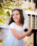 Première fille de communion sainte Photographie stock
