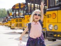 Première fois à l'école photo stock