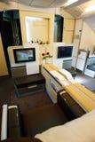 Première fois A380 à Prague Photographie stock libre de droits