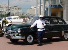 Première génération représentative soviétique GAZ-12 ZIM de berline Photographie stock