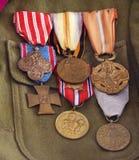 Première Guerre Mondiale de décorations de guerre Image libre de droits
