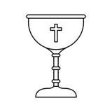 première icône de communion de calice illustration libre de droits