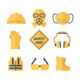 Première illustration réglée de vecteur d'icône de sécurité Photographie stock