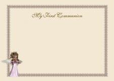 Première invitation de communion Images libres de droits