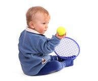 Première leçon de tennis images libres de droits
