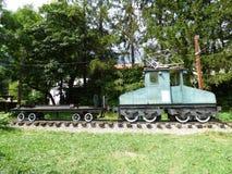 Première locomotive électrique utilisée en Roumanie Photographie stock