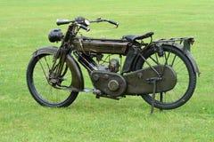 Première motocyclette de guerre mondiale Photographie stock libre de droits