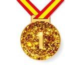 Première récompense de médaille d'or d'endroit Photographie stock