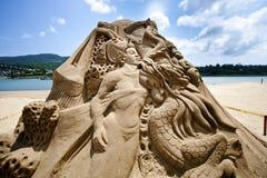 Première sculpture féerique en sable Images stock
