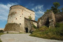 Première tour de vieux château, Ukraine Images libres de droits