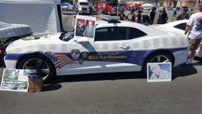 9/11 première voiture de police de commémoration de répondeurs photos libres de droits