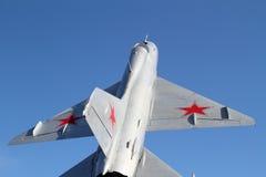 Première vue d'avion à réaction militaire Photos libres de droits