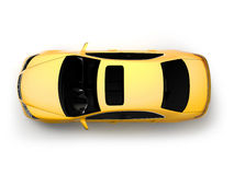 Première vue d'isolement de véhicule moderne jaune Photos libres de droits