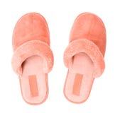 Première vue de chaussons roses image libre de droits