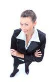 Première vue de femme heureux d'affaires Photo stock