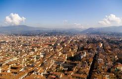 Première vue de Florence du duomo, Italie Photographie stock