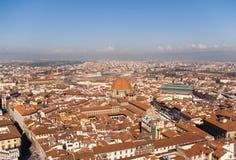 Première vue de Florence du duomo, Italie Image stock