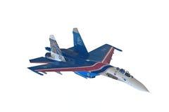 Première vue de l'avion de guerre SU-27 Image stock