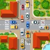 Première vue de la ville illustration de vecteur