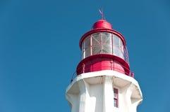 Première vue de phare octogone Photos stock
