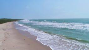 Première vue de plage tropicale clips vidéos