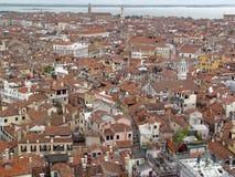 Première vue de toit de Venise. Photo stock