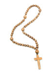 Première vue des programmes en bois de rosaire Photos stock
