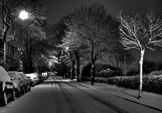 Premières chutes de neige Photographie stock libre de droits