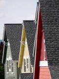 Premières crêtes de toit photos stock