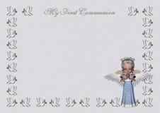 Premières invitation/carte de communion Images stock